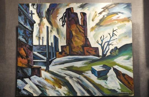 В Днепре проходит выставка картин о войне на Донбассе