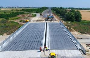 На объездной трассе вокруг Днепра установили мост