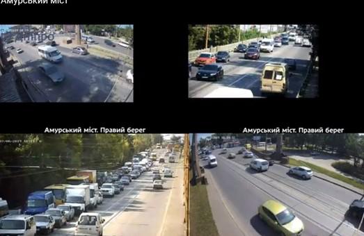 В Днепре в режиме реального времени можно следить за трафиком на мостах