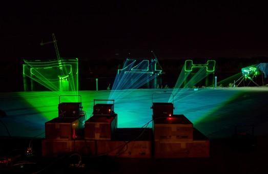 Лазерное световое шоу с музыкальным сопровождением: В Днепре готовятся ко Дню города